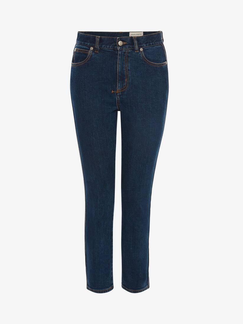 Display a large version of the product image 1 - Fitted Denim Trouser