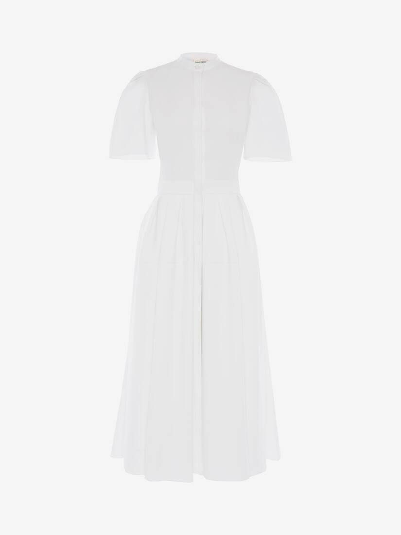 Display a large version of the product image 1 - Cotton Piquet  Midi Dress