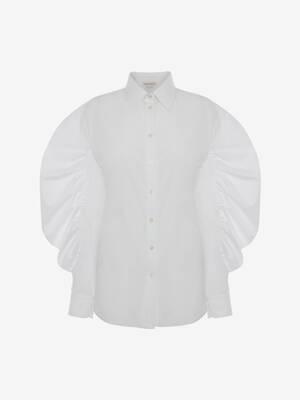 Chemise à manches froncées