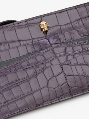 Skull Flat Zip Wallet