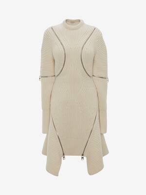 Spiral Zip Knit Dress