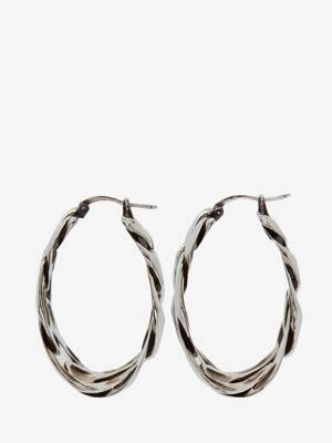 Boucles d'oreilles créoles chaîne
