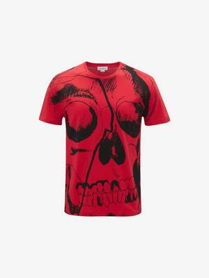 T-shirt con Teschio Oversize