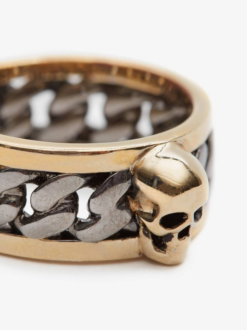 Display a large version of the product image 4 - Skull Chain Ring