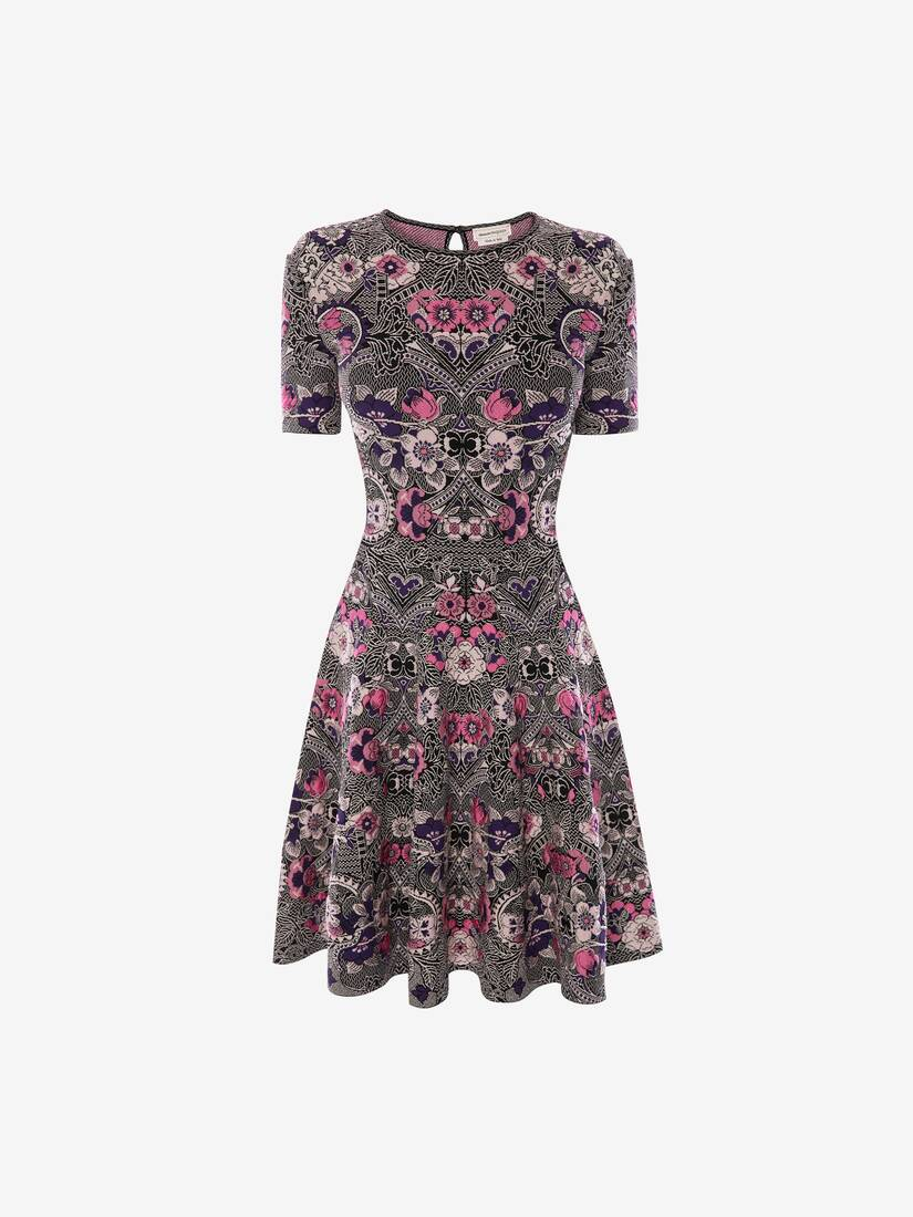 Display a large version of the product image 1 - Art Nouveau Jacquard Mini Dress