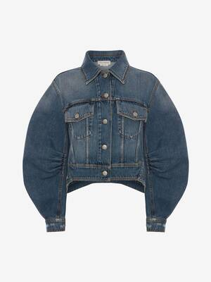Cocoon Sleeve Denim Jacket