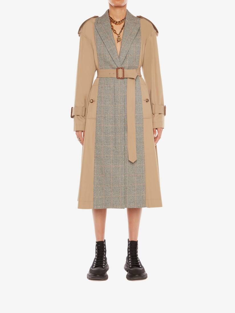 Trench-coat raccordé