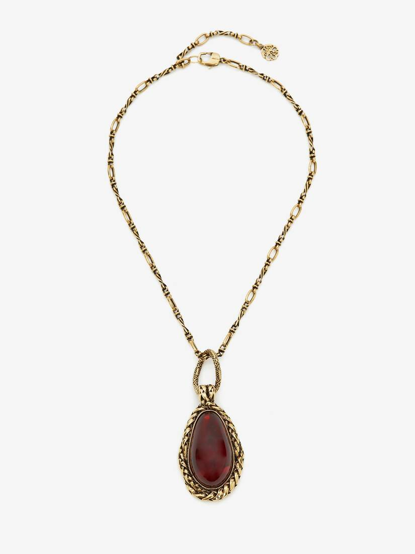 Display a large version of the product image 1 - Garnet Stone Necklace