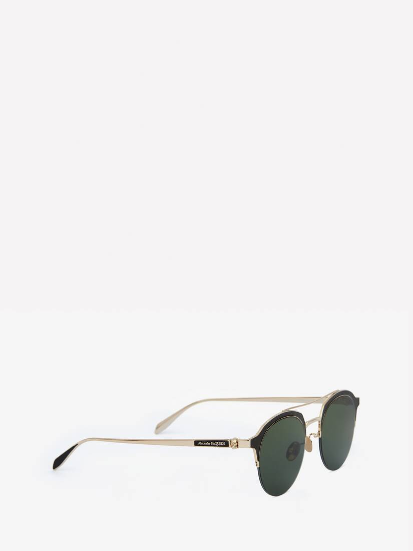 Display a large version of the product image 3 - Panthos-Sonnenbrille aus Metall mit Skull