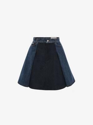Denim Trompe l'oeil Mini Skirt