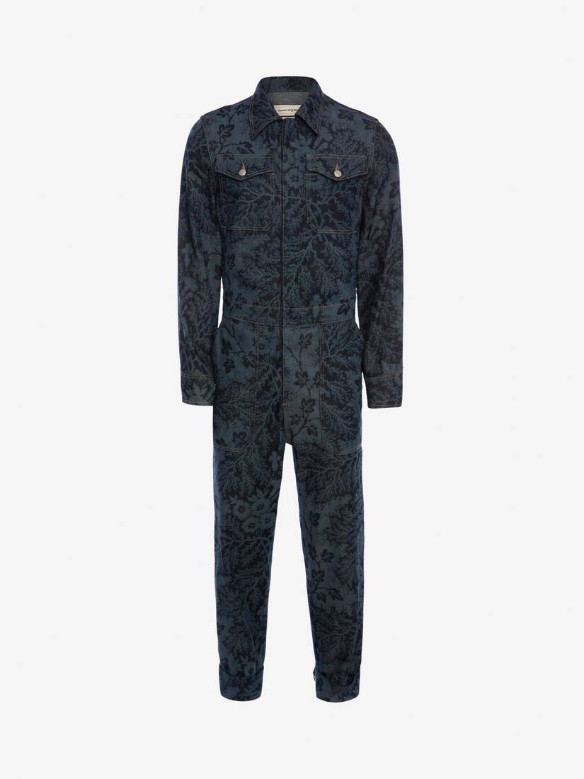 Display a large version of the product image 1 - Ivy Creeper Denim Jumpsuit
