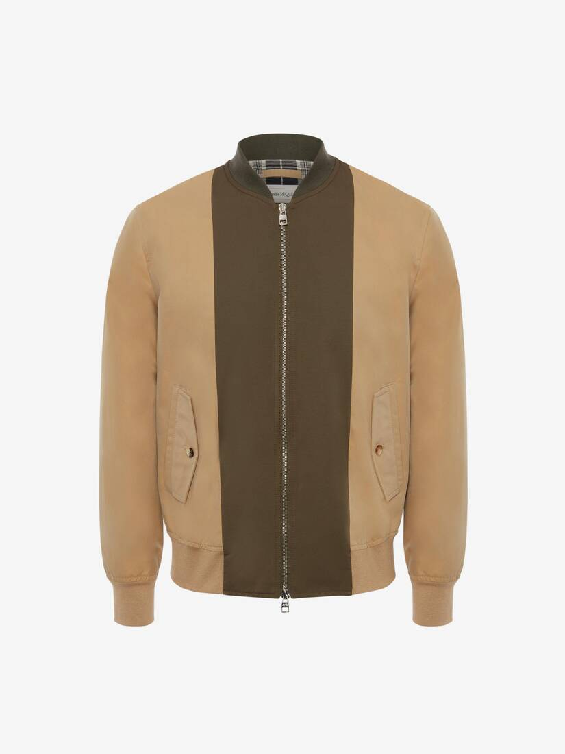 Spliced Bomber Jacket