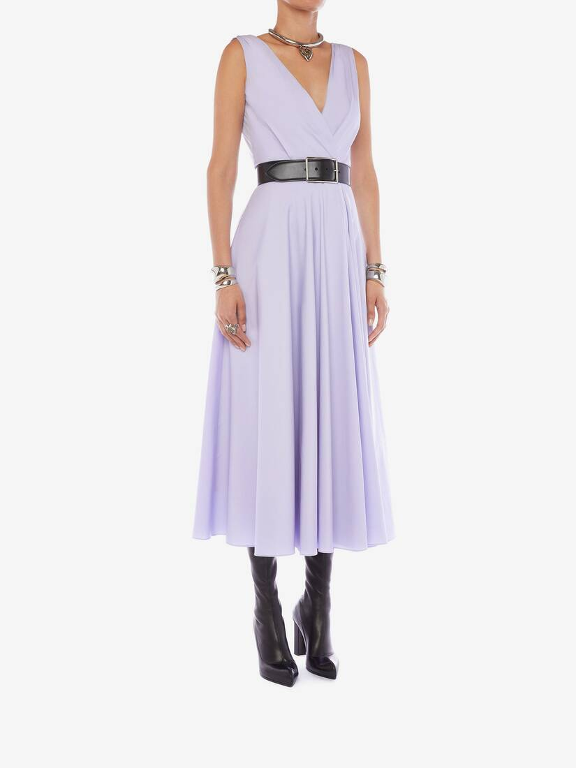 Display a large version of the product image 3 - Cotton Poplin Drape Midi Dress