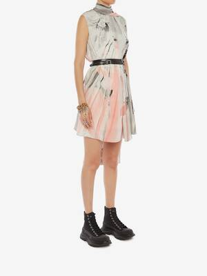 Trompe-l'œil Scarf Neck Dress