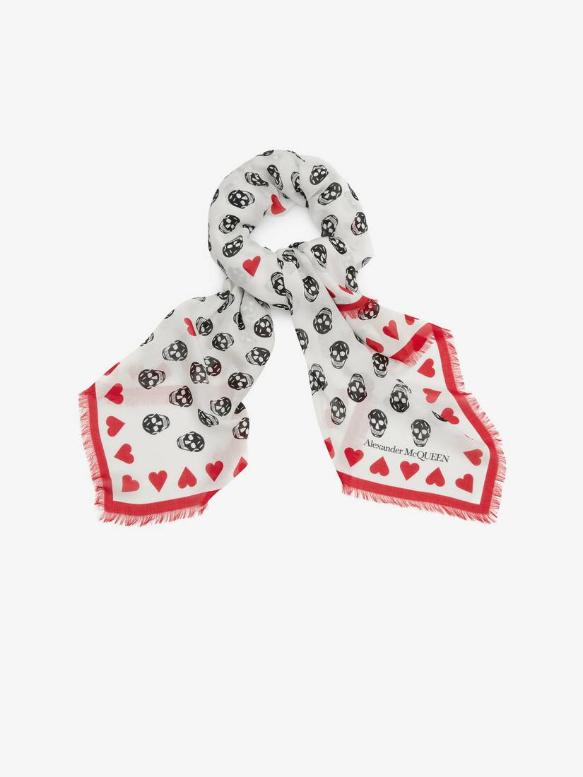 Display a large version of the product image 2 - Heart Biker Skull Scarf