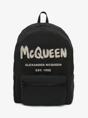 McQueen Graffiti Oversized Backpack