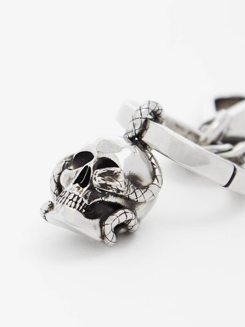 Skull and Snake Keyring