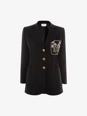 Patch Pocket Wool Silk Jacket