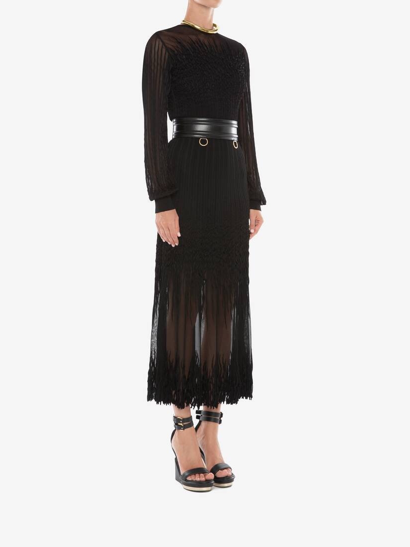 Display a large version of the product image 3 - Sheer knit Midi Dress