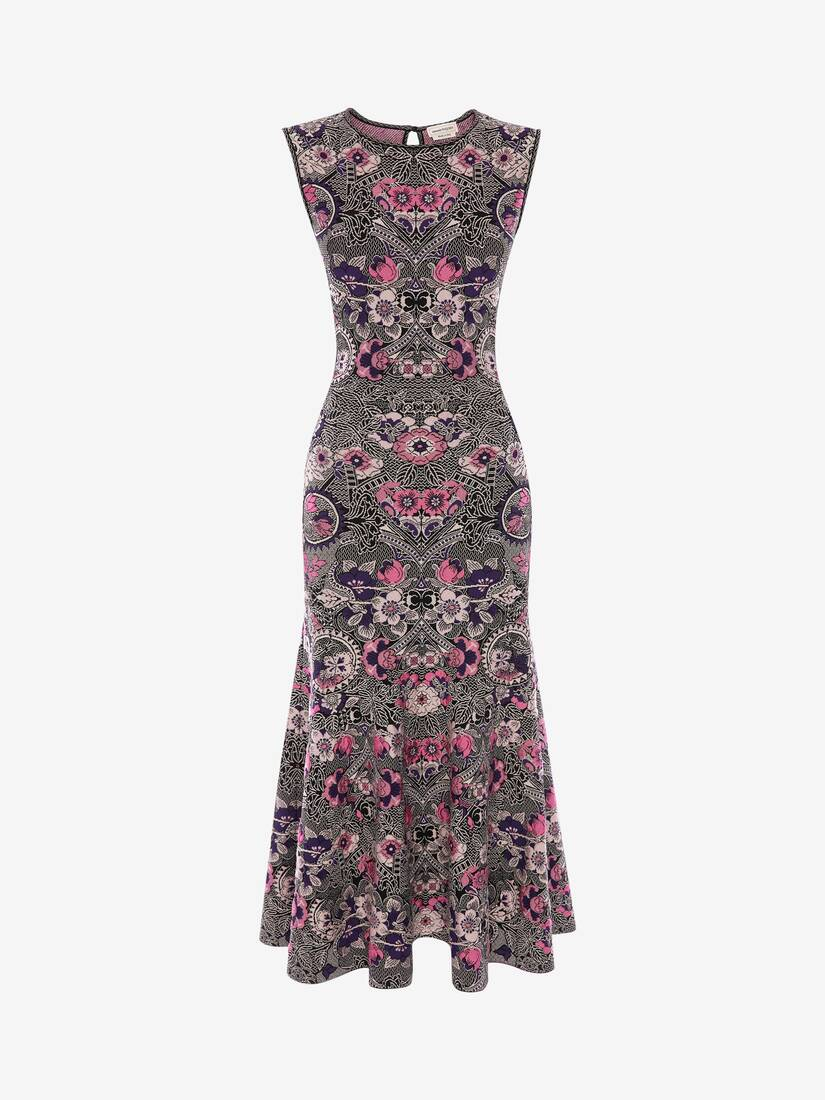 Display a large version of the product image 1 - Art Nouveau Jacquard Midi Dress