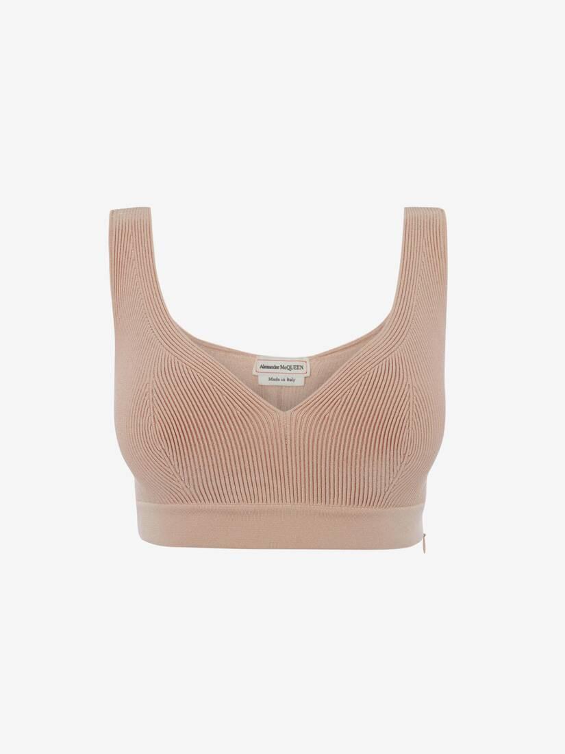 Engineered Knit Bra Top