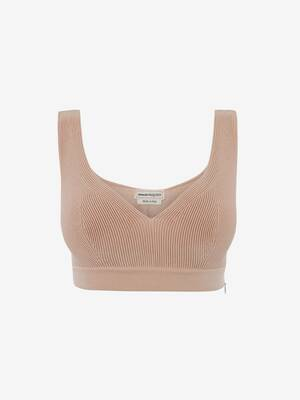 Engineered Knit Bra Top