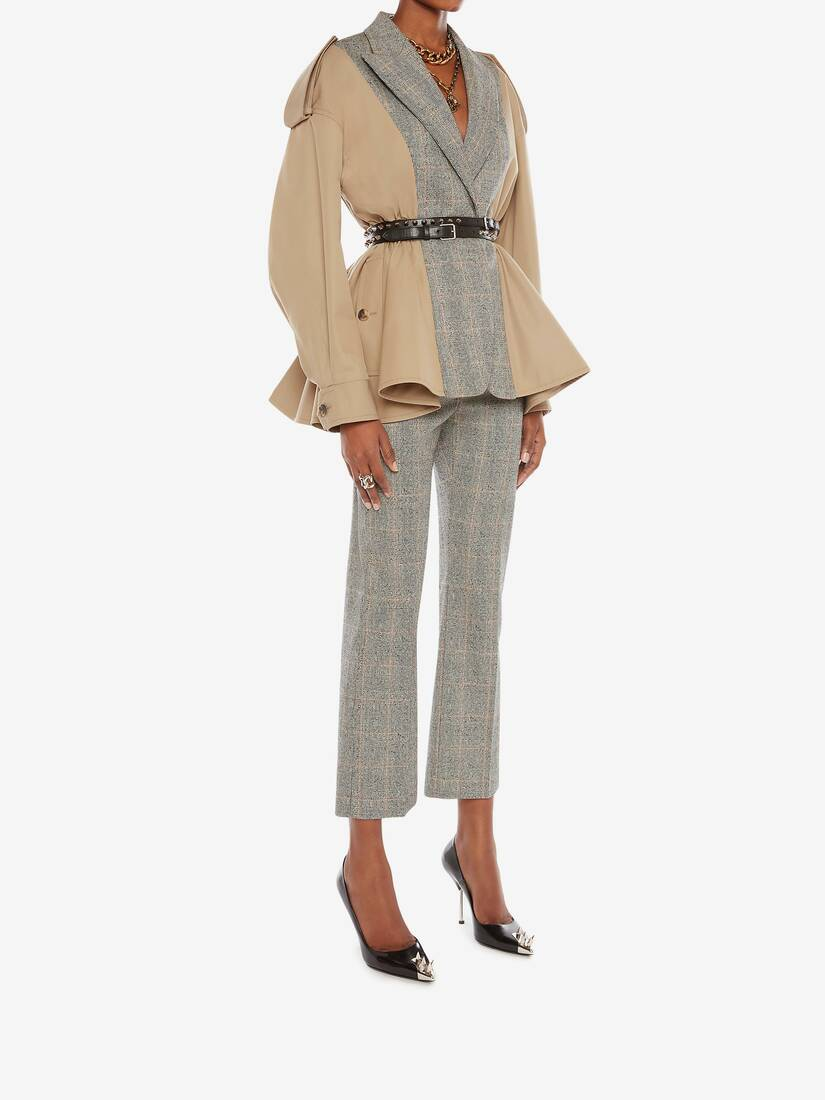 Display a large version of the product image 3 - Spliced Trench Jacket