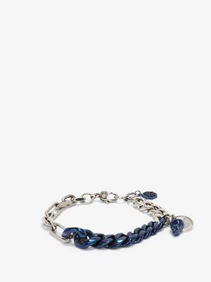Blue Chrome Chain Bracelet
