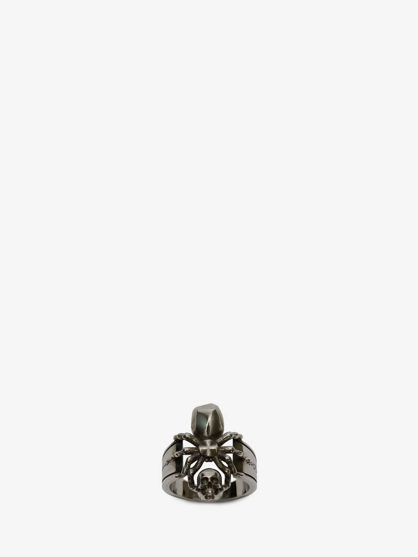 Display a large version of the product image 3 - Spider Skull Ring