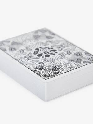 Skull Leather Playing Card Holder