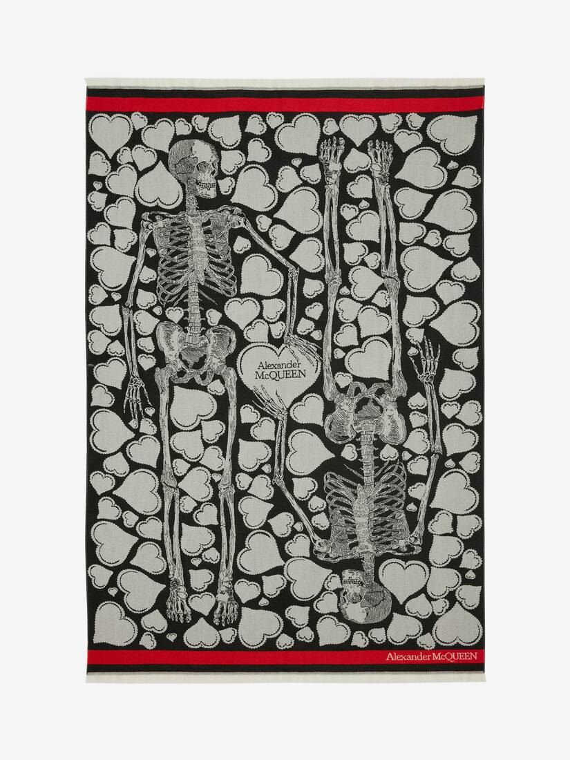 Love Letter Wool Skeleton Blanket