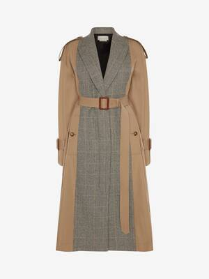 Spliced Trench Coat