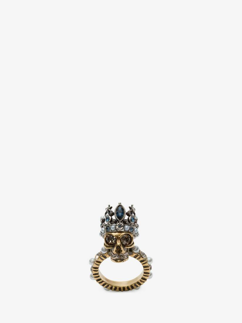 Display a large version of the product image 1 - Queen skull ring