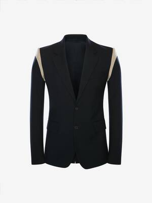 Panelled Wool Serge Jacket