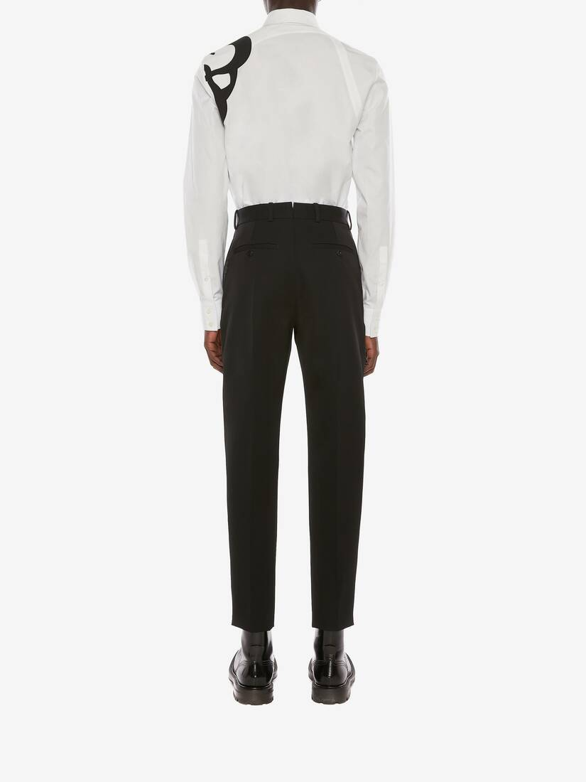 Japanese Barathea Wool Peg Tuxedo Trousers