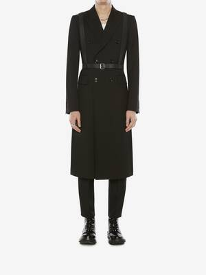 Double-Breasted Wool Gabardine Coat