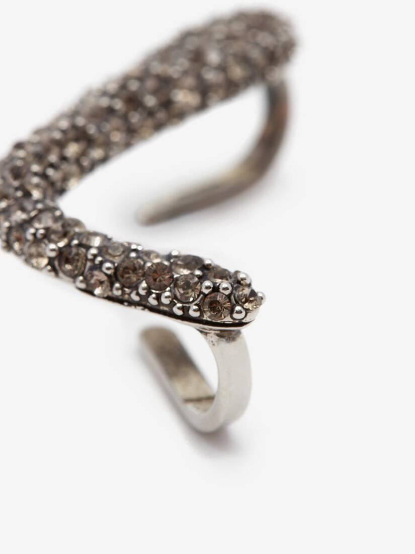 Pave Sculptural Ear Cuff
