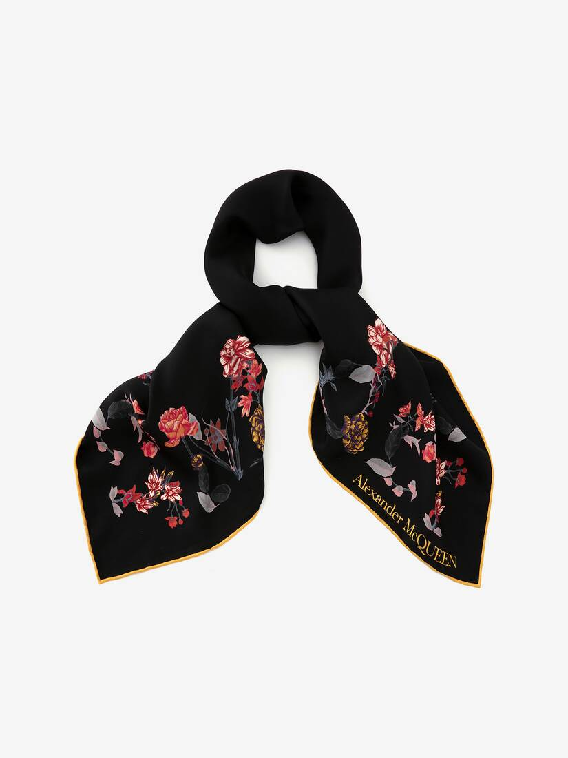 Display a large version of the product image 2 - McQueen Flower Border Scarf