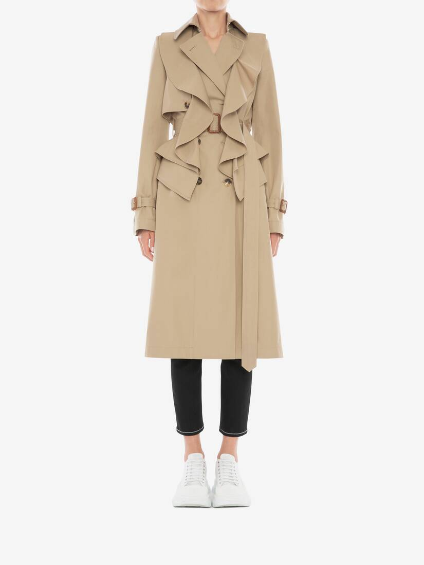 Display a large version of the product image 2 - Trenchcoat mit Schößchen