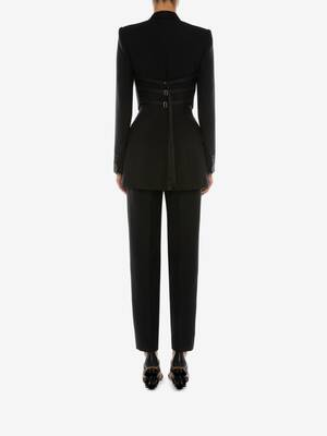 Light Wool Silk Peg Trouser