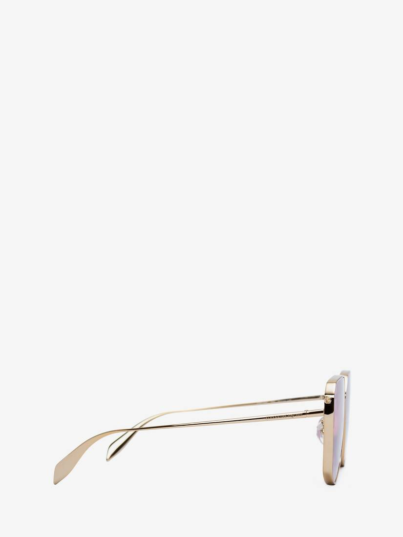 Display a large version of the product image 2 - Piercing Shield Metal Sunglasses