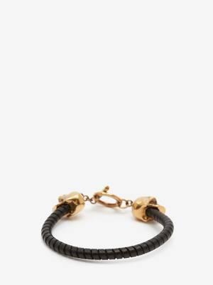 Bracelet skull avec barre en T