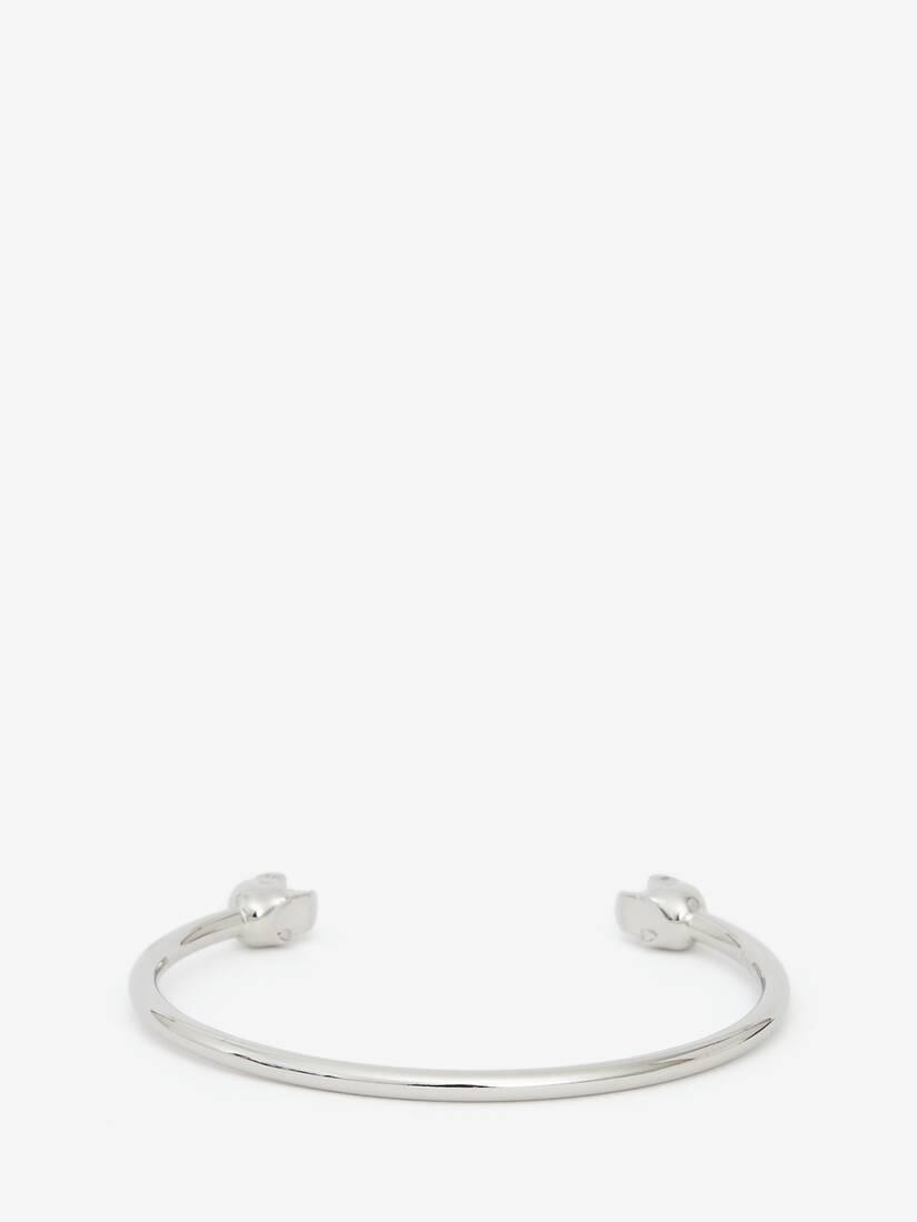 大きな製品イメージを表示する 2 - Thin Twin skull bracelet
