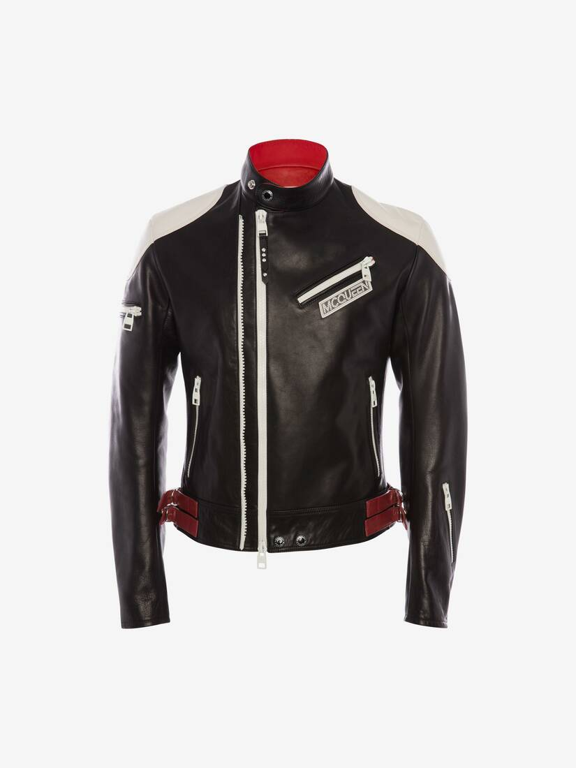 Display a large version of the product image 1 - Bikerjacke aus Leder