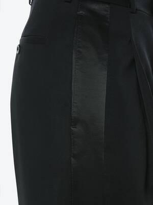 Japanese Barathea Wool Tuxedo Trousers