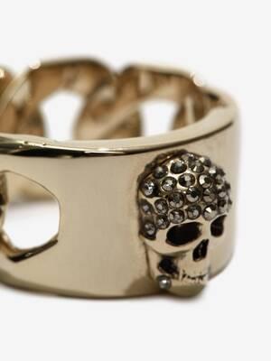 Anello Skull con Catena