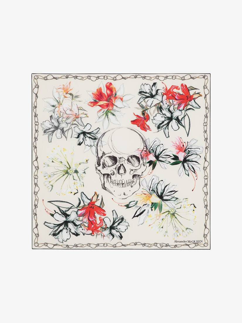 Display a large version of the product image 1 - Endangered Flower Silk Scarf