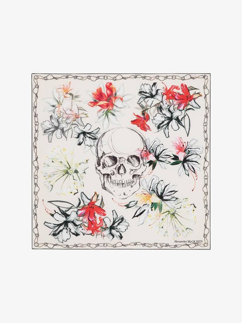 大きな製品イメージを表示する 1 - エンデンジャード フラワー シルク スカーフ