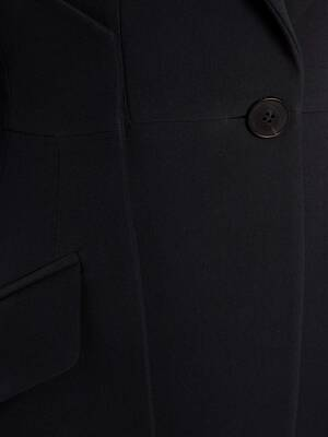Slash Leaf Crepe Jacket