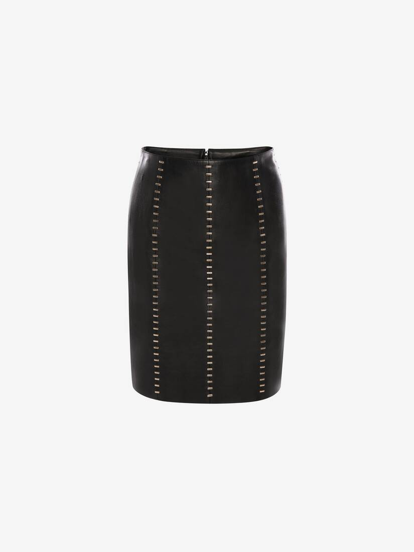 Display a large version of the product image 1 - Stapled Leather Mini Skirt